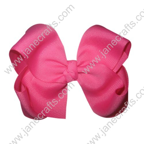 "12PCS 4"" Wholesale Lots Grosgrain Boutique Chunky Hairbow/Baby Girl-Pink"