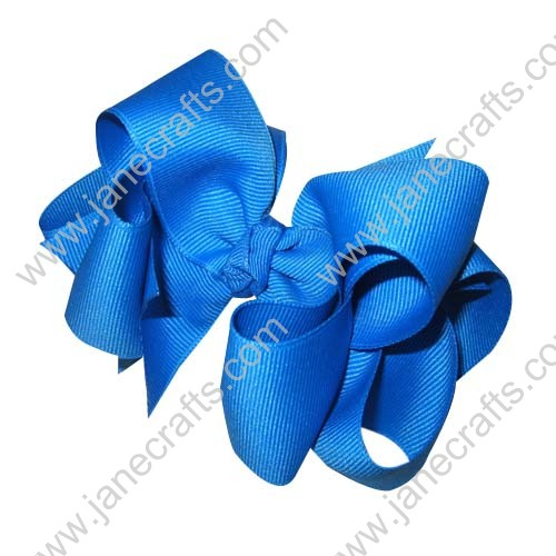 "12PCS 4"" Wholesale Lots Grosgrain Layered Boutique Chunky Hairbow/Baby Girl-Blue"