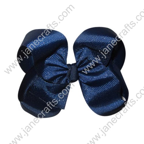 "12PCS 4"" Wholesale Lots Boutique Chunky Hairbow/Baby Girl-Navy Blue"