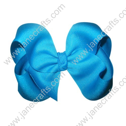 "12PCS 4"" Wholesale Lots Grosgrain Boutique Chunky Hairbow/Baby Girl-Turquoise"