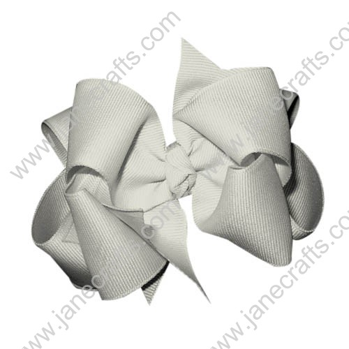 "12PCS 4"" Wholesale Lots Grosgrain Boutique Chunky Hairbow/Baby Girl-White"