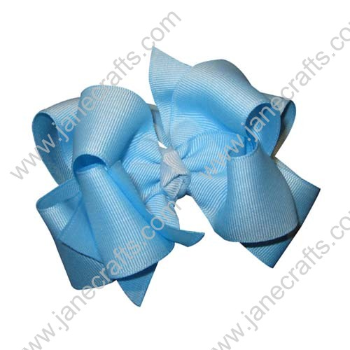 "12PCS 4"" Wholesale Lots Double Layered Boutique Loopy Chunky Baby Hairbow-Sky Blue"