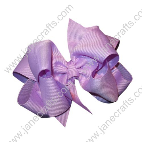 "12PCS 4"" Wholesale Lots Double Layered Boutique Loopy Chunky Baby Hairbow-Lavender"