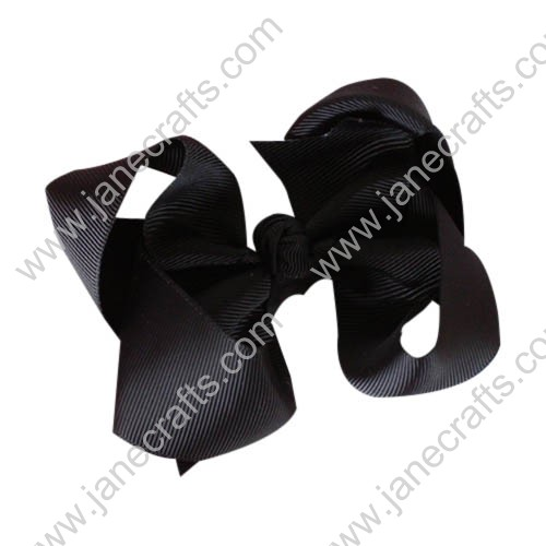 "12PCS 4"" Wholesale Lots Solid Grosgrain Boutique Chunky Baby Toddler HairBow Clips-Black"