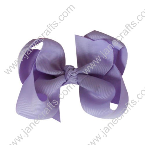 "12PCS 4"" Wholesale Lots Solid Grosgrain Boutique Chunky Baby Toddler HairBow Clips-Lavender"