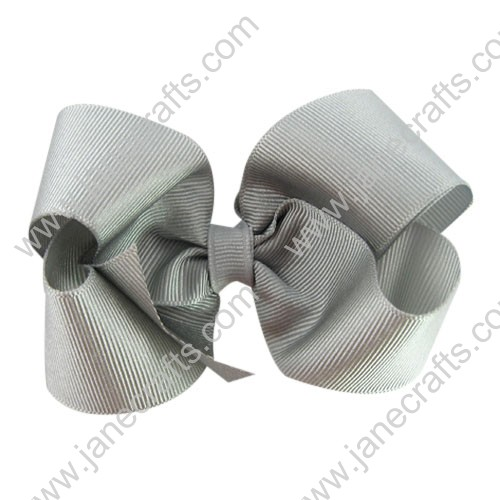 "12PCS Wholesale Lots 4"" Silver Twisted Boutique Chunky Toddler HairBow Clips"