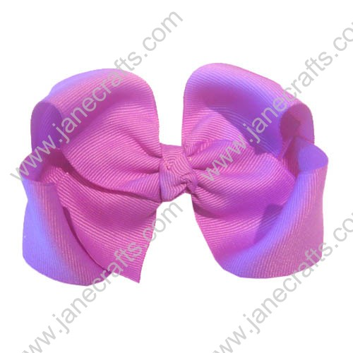 "12PCS 4 1/2"" Wholesale Lots Grosgrain Boutique Chunky HairBow Clips/Baby Girl-Lavender"