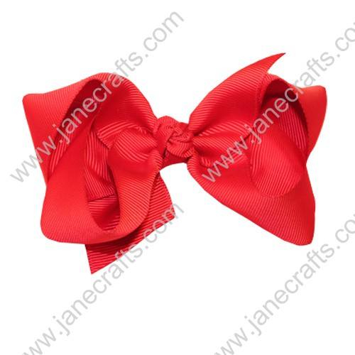 "4.5"" Loopy Chunky Hair Bow Clips in Red-24PCS"
