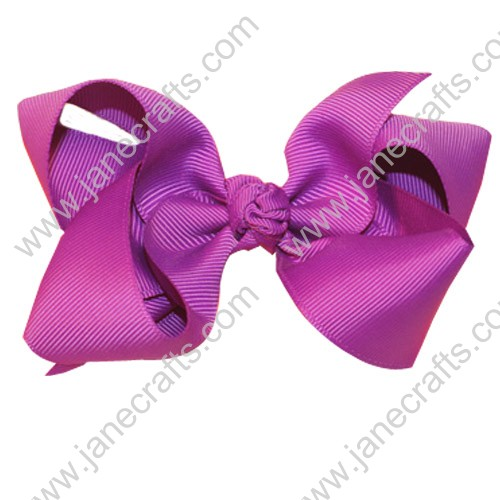 "4.5"" Loopy Chunky Hair Bow Clips in Purple-24PCS"