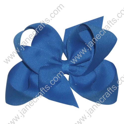 "12PCS Wholesale Lots 4.5"" Royal Blue Boutique Loopy Chunky Hair Bow Clips/Toddler All Girl"