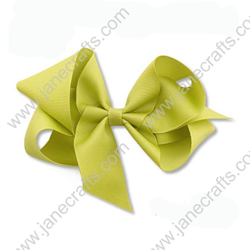 "5"" Solid Grosgrain Hair Bow Clips in Pistachio Green-24PCS"