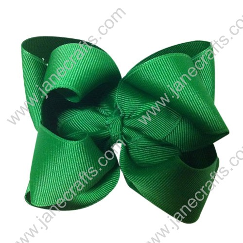 "12PCS Wholesale Lots Large 4"" Solid Boutique Chunky Hairbow in Green"