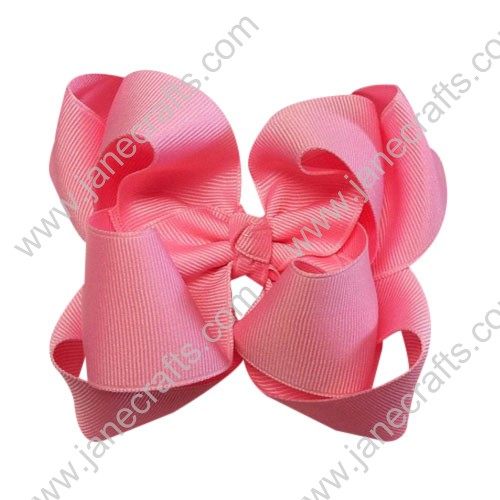"12PCS Wholesale Lots Large 4"" Solid Boutique Chunky Hairbow in Hot Pink"