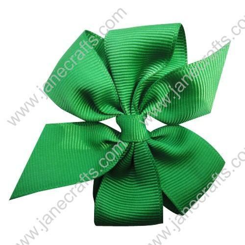 "3"" Solid Daily Hair Bow in Emerald-30pcs"