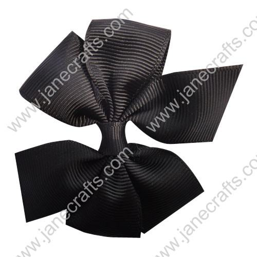 "3"" Solid Daily Hair Bow in Black-30pcs"