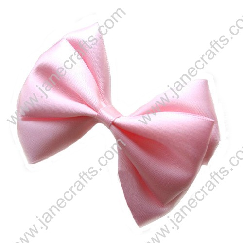 "3"" Three Layers Satin Hair Bow in Pink-12pcs"