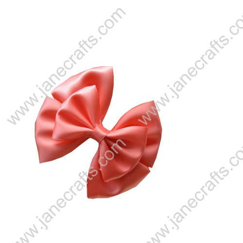 "2 5/8""Three Layers Large Satin Hair Bow Clips in Waterlemon Red-12pcs"