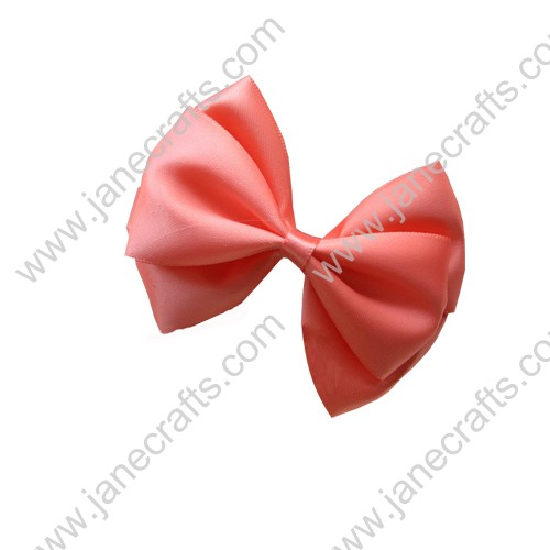 "3"" Three Layers Satin Hair Bow Clips in Waterlemon Red-12pcs"