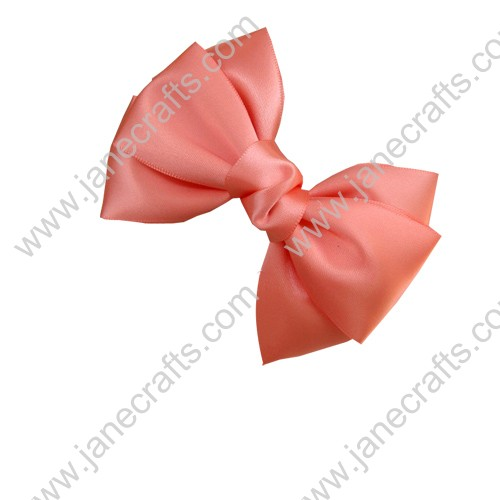 "4 1/4"" Three Layers Satin Hair Bow Clips in Waterlemon Red-12pcs"