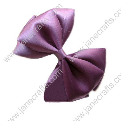 "3"" Three Layers Satin Hair Bow in Purple-12pcs"