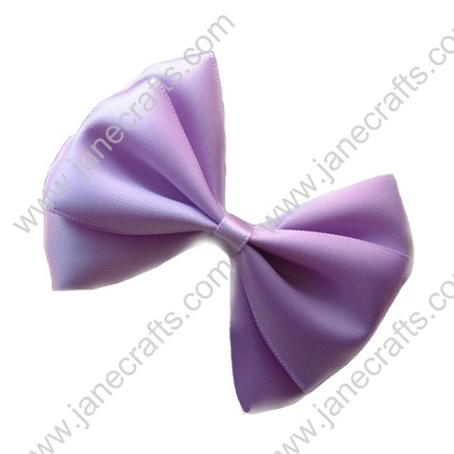 "3"" Three Layers Satin Hair Bow in Light Orchid-12pcs"