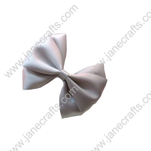 "3"" Three Layers Satin Hair Bow in Silver-12pcs"