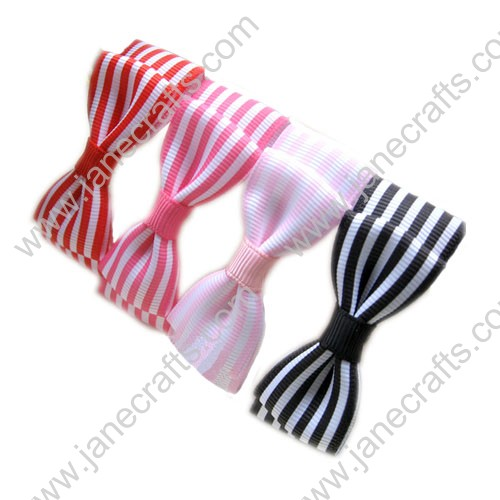 "1 6/8"" Stripes Grosgrain Bow Bowtie Bow without Clip"