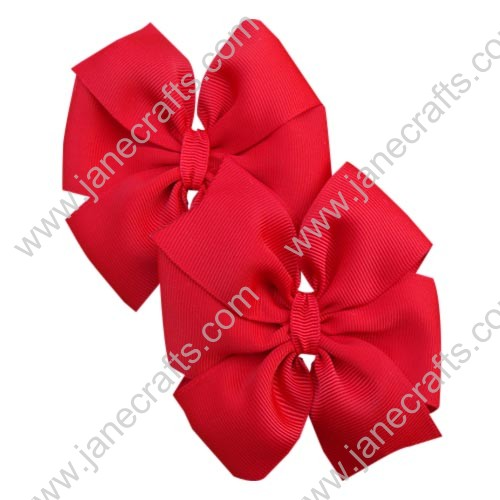"Wholesale Lot 4"" Valentine's Day Solid Pinwheel Girl Hair Bows in Red-30PCS"