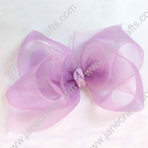 "Large 5"" Organza Sheer Chunky Boutique Bows by Dozen"