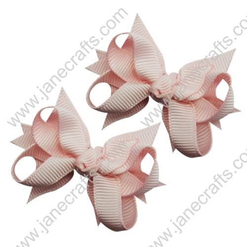 "2 1/4"" DIY Spike Bow without Clip 12 pcs-Lt Pink"
