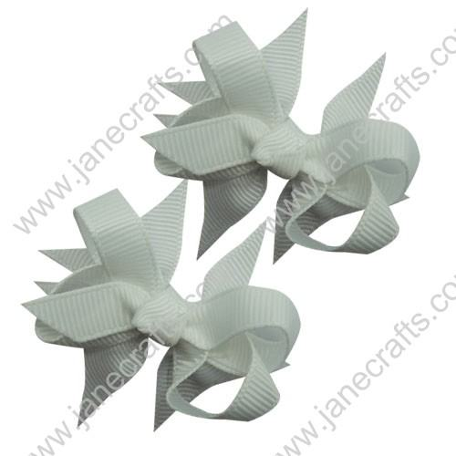 "2 1/4"" DIY Spike Bow without Clip 12 pcs-White"