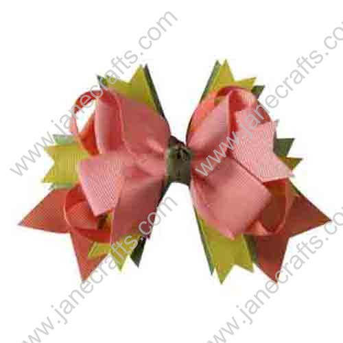 "4.5"" Multi-Colored Baby Girl Hair Accessories Layered Spike HairBow Clips Wholesale 12pcs"