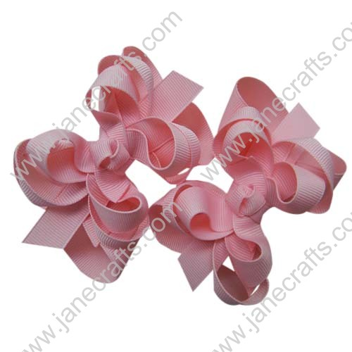 "12PCS 3"" Wholesale Lots Boutique Layered Spike Hair bows/Baby Toddler-Lt Pink"