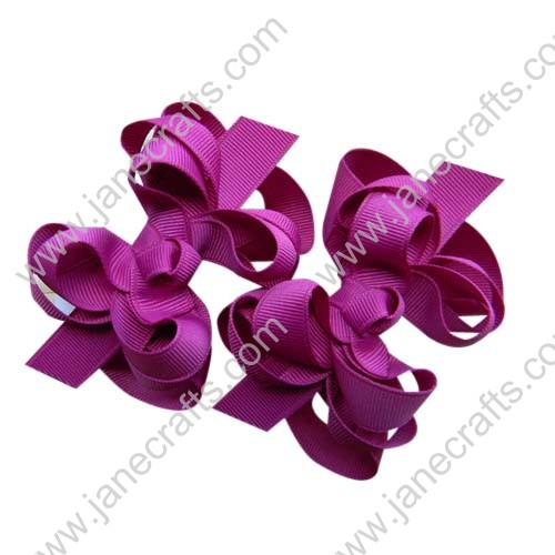 "12PCS 3"" Wholesale Lots Boutique Layered Spike Hair bows/Baby Toddler-Fuchsia"