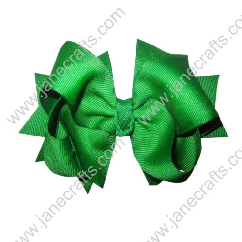 "12PCS 4"" Wholesale Lots Double Layered Spiky Hairbow Newborn Toddler Big Girl-Emerald"