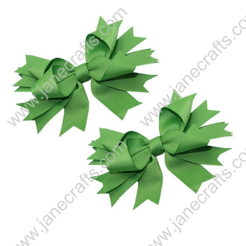 "4.5"" Apple Green Double Layered Spikes-12 pcs"