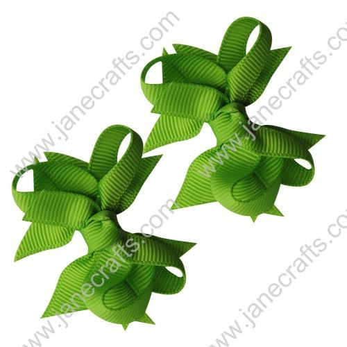 "2 1/4"" DIY Spike Bow without Clip 12 pcs-Apple Green"