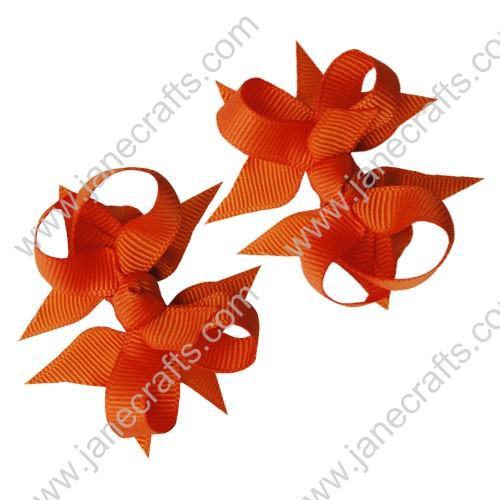 "2 1/4"" DIY Spike Bow without Clip 12 pcs-Orange"