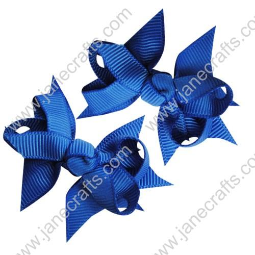 "2 1/4"" DIY Spike Bow without Clip 12 pcs-Royal Blue"