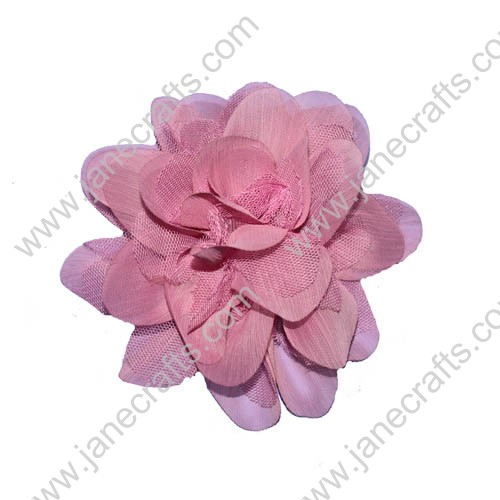 "3.5"" Handmade Fabric Flowers No stem included-12PCS"