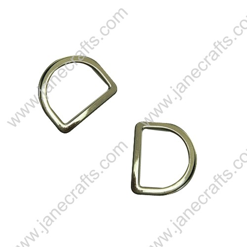 "50PCS 21mm 3/4"" Lt Gold Fashion Beautiful Metal D rings for Webbing or Strapping"