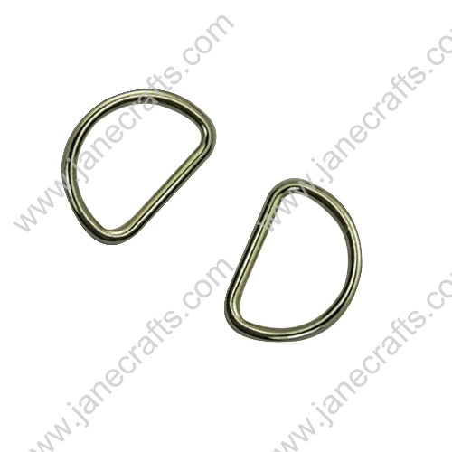 "50PCS 25mm 1"" Lt Gold Fashion Beautiful Metal D rings for Webbing or Strapping"
