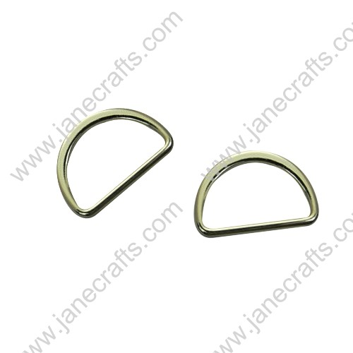 "50PCS 30MM 1 1/4"" Lt Gold Fashion Beautiful Metal D rings for Webbing or Strapping"