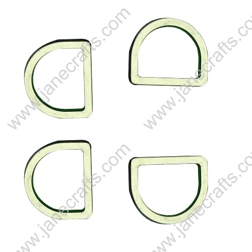 "50pcs 3/4"" Non Open Die Cast Alloy Dee Rings for Webbing Silver Color"