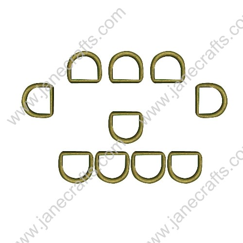 "50pcs 7/16"" Non Open Die Cast Alloy Dee Rings Webbing Strap Bronze Color"