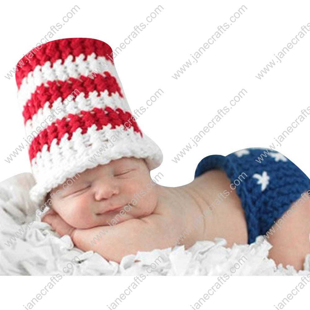 Cute Crochet Beanie Hat Underware Set for Baby Infant Photo Photograph Prop Newborn-6 Month