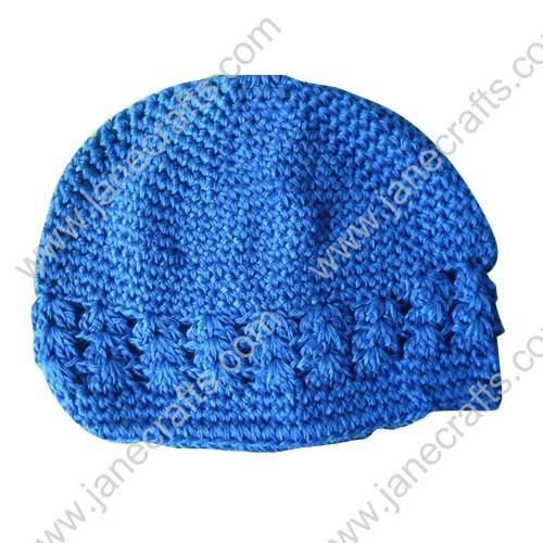 Wholesale 10pcs Handmade Crochet Baby Children Kufi Hat Royal for 0-2