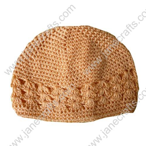 Wholesale 10pcs Handmade Crochet Baby Children Kufi Hat Peach Pink for 2-6