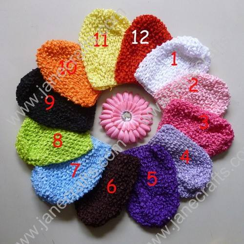 Wholesale 12pcs Handmade Crochet Baby Child Kufi Hat Great for Summer
