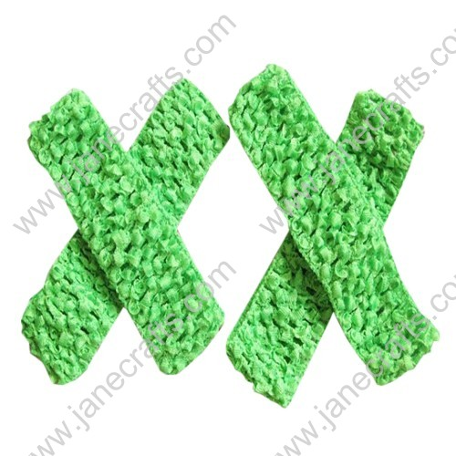 "1.5"" Crochet Headbands in Green-24PCS"